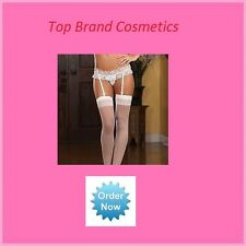 Sexy Suspender Garter Belt White with Blue Bow  New