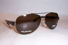 NEW HUGO BOSS Sunglasses 0317/S YCH-VW BROWN/BROWN POLARIZED AUTHENTIC 317