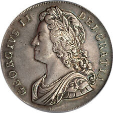 Great Britain 1739 George II Silver Crown Roses PCGS Genuine