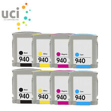 8 NON-OEM Chipped Ink Cartridges For 940 XL Officejet Pro 8000 8500 8500A A809