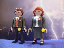 PLAYMOBIL X FILES 2016 DANA SCULLY FOX MULDER FIGURINE TOY FIGURE ACTION RARE