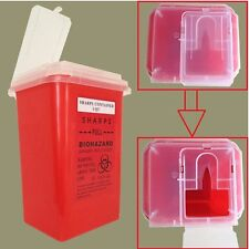 New Dental Sharps Container Biohazard Needle Disposal 1 Qt Size