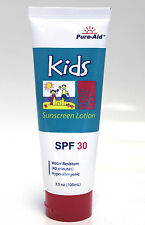 5x Pure-Aid Kids Sunscreen Lotion SPF 30 Water Resistant Hypoallergenic 3.5oz
