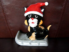 Lorna Bailey Christmas Cat Santa Clause On His Sleigh Signed Xmas Cats
