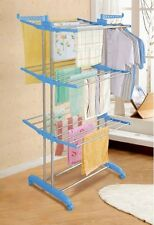 Foldable & Movable Clothes Drying Rack 24 Rods 14 Hanger Slots Cloth Drying Rack