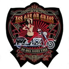 Ass Gas or Grass Backpatch Aufnäher XL 27x24cm Old School Rockabilly Kerosin MC