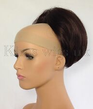 "DARK BROWN "" BEEHIVE "" BUN HAIR PIECE EXTENSION #4 UK SELLER"