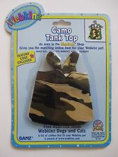"xbx camo tank top WEBKINZ PET CLOTHING 8"" dog cat monkey horse etc new code"
