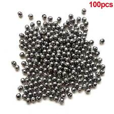 100x 0.5g Round Fishing Weight Fishing Sinker Split Lead Shot Sinker Tackle New