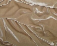 "Silk VELVET Fabric SANDY BEIGE 45"" by the yard"