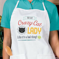 Crazy Cat Lady New Apron Kitchen Gifts Events Cook Bake Fun
