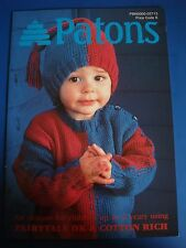 Patons Children's Clothing 6 Designs Knitting Pattern Book 02713