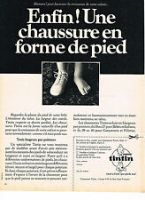 PUBLICITE ADVERTISING  1967    TINTIN   chaussures