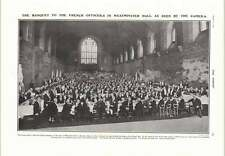 1905 Banquet French Officers In Westminster Hall Tring Show Simmons Ayre
