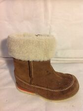 Girls Clarks Brown Suede Boots Size 5.5F