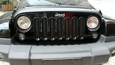 2007-2016 Jeep Wrangler Unlimited Mesh Grille Grill Insert Kit Black New USA