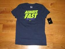 NEW Girls NIKE Always Fast Never Last S/S T-Shirt Size L 14 Navy Shirt Large LG