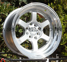 F1R F05 15x8 4x100/114.3 Et0 Silver/Polish Lip set of 4