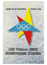 SQUAW VALLEY CALIFORNIA 1960 Winter Olympic Games Official Poster Reprint