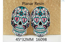 Floral Sugar Skull Resin flatback 45mm x 32mm (pack of 5)