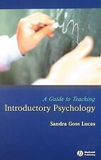 NEW A Guide to Teaching Introductory Psychology by Sandra Goss Lucas Paperback B