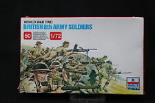 YB081 ESCI 1/72 maquette figurine 207 British 8th Army Soldiers WWII