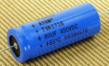 80uF 450VDC Sprague Atom TVA 1716 Electroltyic Capacitor For Vintage Guitar Amps