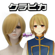 KaJi Aoi / Genjyo Sanzo 12'' Golden Yellow Short Cosplay Wig Heat Resistant