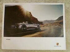 2014 Porsche 918 Spyder Supercar Showroom Advertising Poster RARE!! Awesome L@@K