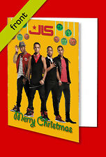 JLS Autograph Christmas Card Reproduction signed by all 4 Members