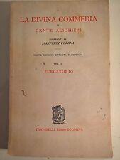 """LIBRO DANTE ALIGHIERI - LA DIVINA COMMEDIA """"PURGATORIO"""" - ZANICHELLI 1964"""