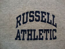 Vintage Russell Athletic Jogging Exercise Sports Marathon Gym Grey T Shirt L