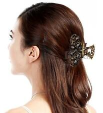 Retro Metal Resin Rhinestone Hair Clip Claw Clamp Fashion
