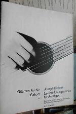 Joseph Küffner: Leichte Übungsstücke für Anfänger, Gitarren-Archiv Schott Nr. 9