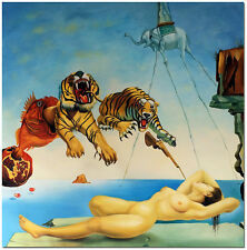 Gala and the Tiger - Salvador Dali Surrealism Hand Painted Oil Painting Art