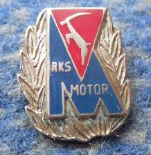 MOTOR LUBLIN POLAND FOOTBALL FUSSBALL SPEEDWAY 1980's SILVER HONORARY PIN BADGE