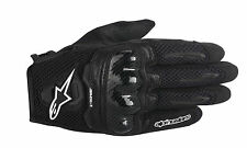 ALPINESTARS 2016 SMX-1 AIR Leather/Mesh Motorcycle Riding Gloves (Black) Medium