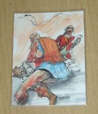 2013 Boo Mighty Zombies sketch card Babisu Kourtis 1/1 only 12 sketchs by artist