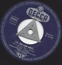 Christa Williams und jo Roland : Himmelblaue Serenade + Oh, das wär schön