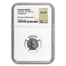 Roman Silver Denarius of Emperor Caracalla - Choice VF NGC - SKU #48850
