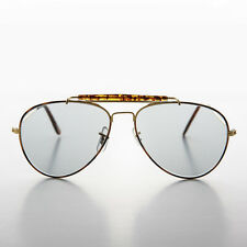 Military Aviator Sunglass with tansition lens NOS Demi/Gold - SPRUCE