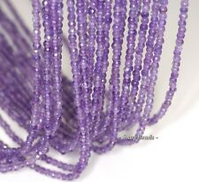 3MM ROYAL AMETHYST GEMSTONE GRD AA LIGHT PURPLE FACETED ROUND LOOSE BEADS 15.5""