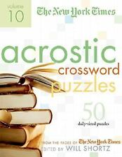 Acrostic Crossword Puzzles Vol. 10 : 50 Engaging Acrostics from the Pages of...