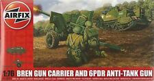 AIRFIX 1:76 KIT MEDIO MIL BREN GUN CARRIER & ANTI TANQUE GUN ARTE 01309 SERIE 1