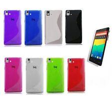 Funda para BQ AQUARIS E5 / E5 4G Gel-Tpu S-LINE + Protector Elige color