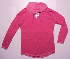 Hanes Women Long Sleeve Cowl Neck Fleece Tunic Pullover Top Shirt Pink M8-10 NWT