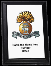 Personalised Wall Plaque - Royal Dublin Fusiliers