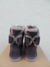 UGG NIGHTFALL NAVEAH BAILEY BOW SUEDE/ SHEEPSKIN BOOTS, US 9/ EUR 40  ~NIB