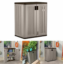Small Outdoor Storage Cabinets Suncast Lawn Yard Patio Garden Deck Utility Shed