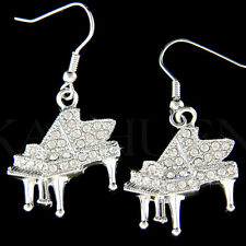 w Swarovski Crystal ~Grand Baby Piano~Jewelry music  Musical Instrument Earrings